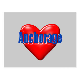 I Love Anchorage Alaska Postcard