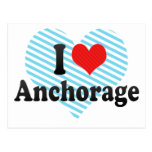I Love Anchorage Post Cards