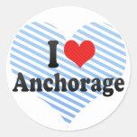I Love Anchorage Round Sticker