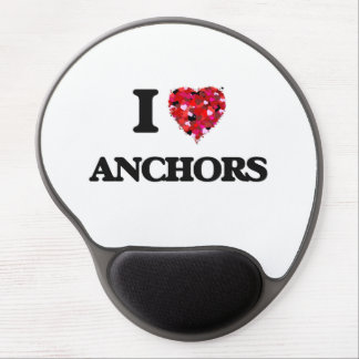 I Love Anchors Gel Mouse Pad