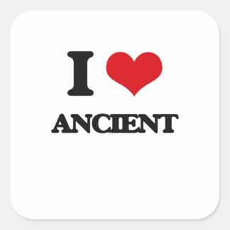 I Love Ancient Square Sticker