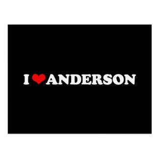 I LOVE ANDERSON POSTCARD