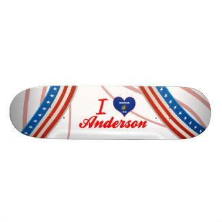 I Love Anderson, Wisconsin Custom Skateboard
