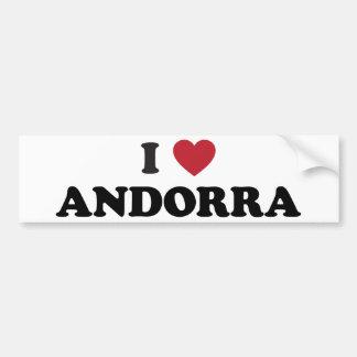 I Love Andorra Bumper Stickers