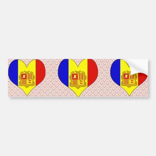 I Love Andorra Bumper Sticker