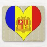 I Love Andorra Mouse Pad