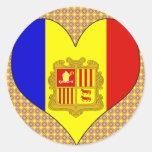 I Love Andorra Stickers