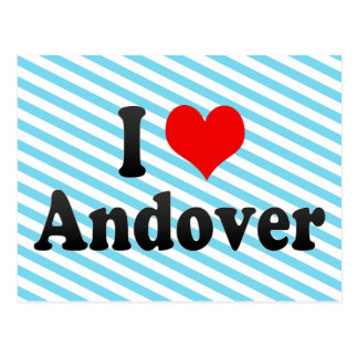 I Love Andover, United States Postcard