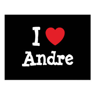 I love Andre heart custom personalized Postcards