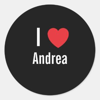 I love Andrea Classic Round Sticker