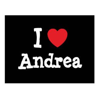 I love Andrea heart T-Shirt Postcard