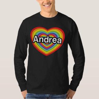 I love Andrea, rainbow heart T-Shirt