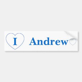 I Love Andrew Bumper Sticker