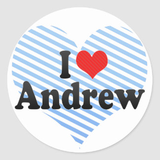 I Love Andrew Classic Round Sticker