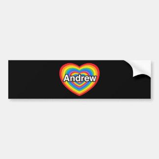 I love Andrew. I love you Andrew. Heart Car Bumper Sticker