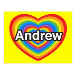 I love Andrew. I love you Andrew. Heart Post Cards