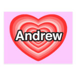 I love Andrew. I love you Andrew. Heart Postcard