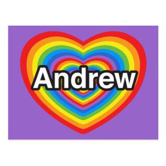 I love Andrew. I love you Andrew. Heart Postcard
