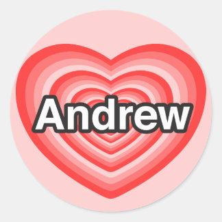 I love Andrew. I love you Andrew. Heart Sticker