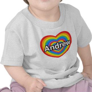 I love Andrew. I love you Andrew. Heart Shirt