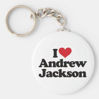 I Love Andrew Jackson Keychain