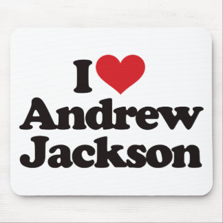 I Love Andrew Jackson Mouse Pad