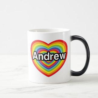 I love Andrew rainbow heart Mugs