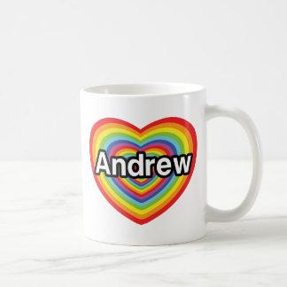 I love Andrew rainbow heart Mug