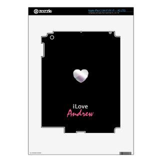 I Love Andrew iPad 3 Skins