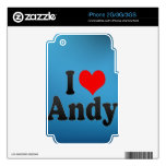 I love Andy Decal For The iPhone 3G
