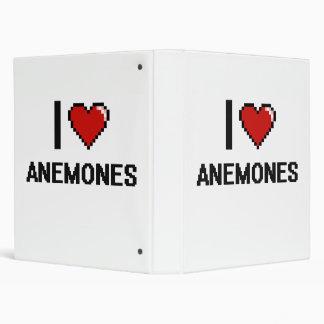 I love Anemones Digital Design 3 Ring Binder