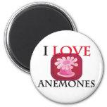 I Love Anemones Refrigerator Magnets