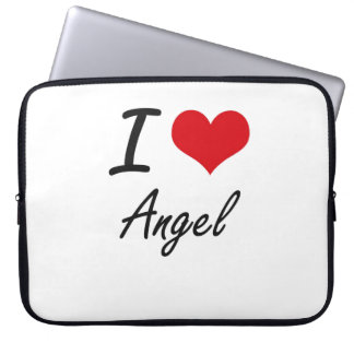 I Love Angel artistic design Laptop Sleeves