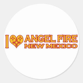 I Love Angel Fire, NM Round Sticker