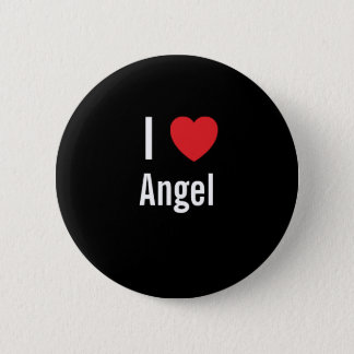 I love Angel Pinback Button