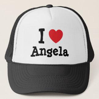 I love Angela heart T-Shirt Trucker Hat