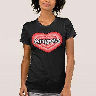 I love Angela. I love you Angela. Heart T-Shirt