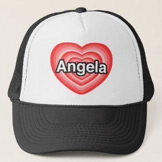 I love Angela. I love you Angela. Heart Trucker Hat