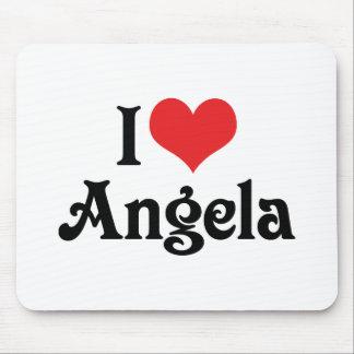 I Love Angela Mouse Pad