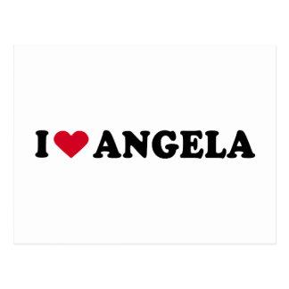 I LOVE ANGELA POSTCARD