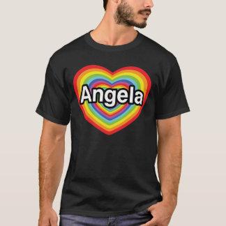 I love Angela, rainbow heart T-Shirt