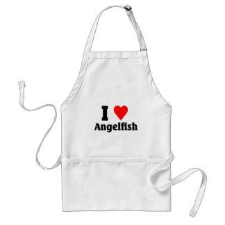 I love Angelfish Adult Apron
