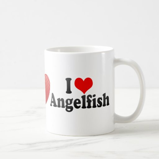 I Love Angelfish Coffee Mug