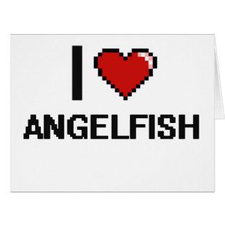 I love Angelfish Digital Design Big Greeting Card
