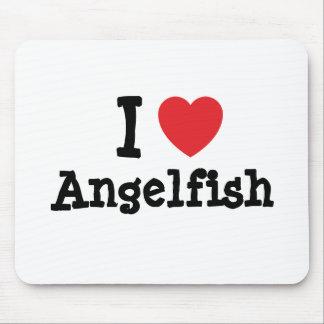 I love Angelfish heart T-Shirt Mouse Mats