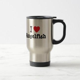 I love Angelfish heart T-Shirt Coffee Mugs
