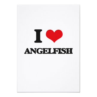 "I love Angelfish 5"" X 7"" Invitation Card"