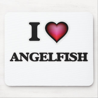 I Love Angelfish Mouse Pad