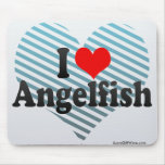 I Love Angelfish Mouse Pads