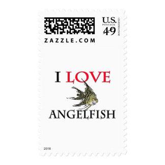 I Love Angelfish Postage